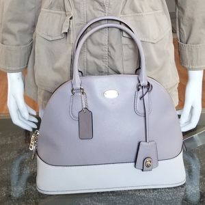 Gorgeous COACH Cross-grained Dome Leather Satchel.